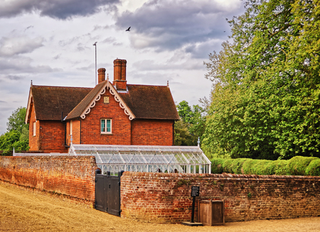 heritage protection: House of gardener and Kitchen garden in Audley End House in Essex in the United Kingdom. It is a medieval county house. Now it is under protection of the English Heritage.