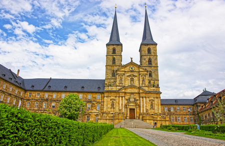 saint michael: Saint Michael Church in Bamberg in Germany. It is also called Michaelskirche. It is placed on the top of the hill