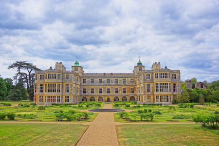 heritage protection: SAFFRON WALDEN, ENGLAND - MAY 13, 2011: Audley End House and Garden Front in Essex in the United Kingdom. It is a medieval county house. Now it is under protection of the English Heritage. Editorial