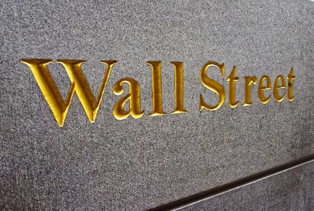 Caption Wall Street in Lower Manhattan, New York City, USA 写真素材