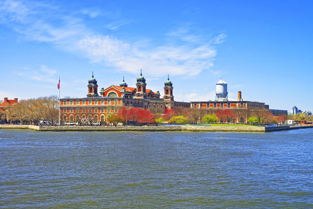 immigrant: Immigration station in Ellis Island, USA, in Upper Bay. It was a gateway for immigrants who came to immigrant inspection. Editorial