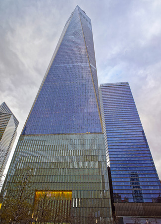freedom tower: Freedom Tower in Financial Center in Lower Manhattan, New York, USA.