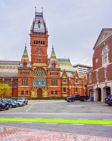 harvard university: Transept of Memorial Hall of Harvard University and Cambridge Fire Department, Massachusetts, USA. The Hall was built in honor of men who died during the American Civil War.