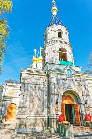 nikolay: Entrance of St Nicholas Orthodox Church in Ventspils, Latvia. Ventspils is a city in the Courland region of Latvia. Latvia is a country in the Baltic region.