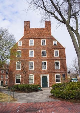 harvard university: Cambridge, USA - April 29, 2015: Massachusetts Hall in Harvard Yard of Harvard University, Massachusetts, MA, USA. It is the oldest building at Harvard University. It used to serve as a dormitory.