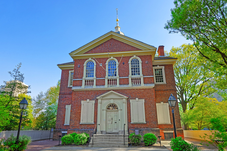 Arch Street Friends Meeting House in Philadelphia, Pennsylvania, USA. It is quakers religious society of Friends. Standard-Bild