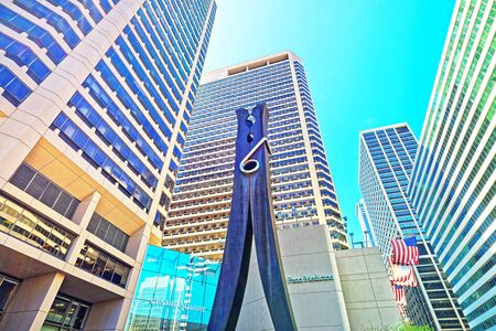 clothespin: Philadelphia, USA - May 4, 2015: Clothespin sculpture at Skyscrapers in Philadelphia City Center. Pennsylvania, USA.