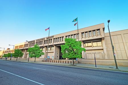 Philadelphia, USA - May 5, 2015: United States Mint Building of Philadelphia PA, Pennsylvania, the USA