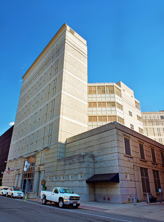 detention: Philadelphia, USA - May 5, 2015: Federal Detention Center in Philadelphia, Pennsylvania, the USA.