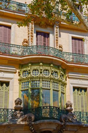 josep: Casa Casarramona in Modernisme style in Passeig de Gracia in Barcelona, Spain. It was designed by Josep Puig i Cadafalch