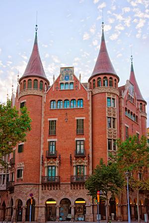 josep: Casa Terrades in Modernisme style in Avinguda Diagonal of Barcelona, Spain. It was designed by Josep Puig i Cadafalch