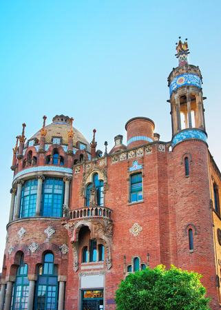 modernisme: Dome of Hospital de Sant Pau in Barcelona in Spain. In English it is called as Hospital of the Holy Cross and Saint Paul. It used to be a hospital. Now it is a museum Editorial