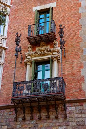 josep: Balcony of Casa Terrades in Modernisme style in Avinguda Diagonal of Barcelona, Spain. It was designed by Josep Puig i Cadafalch