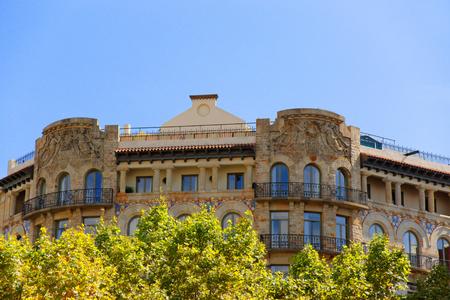 modernisme: Decor of Building in Passeig de Gracia 33 in the Eixample district in Barcelona, Spain.