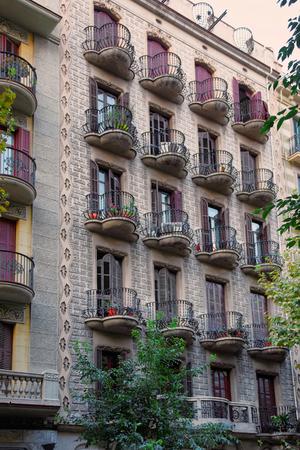 modernisme: Building in Modernisme style in the city center in Barcelona, Spain