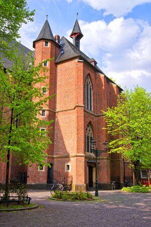 rhine westphalia: Saint Lambertus Basilica in the Old city center in Dusseldorf in Germany. It is the capital of Rhine Westphalia region.