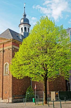 rhine westphalia: Josephskapelle Chapel in the city center in Dusseldorf in Germany. It is the capital of Rhine Westphalia region.