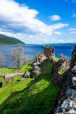 loch ness: Remainings of the Urquhart Castle in Loch Ness in Scotland. Loch Ness is a city in the Highlands in Scotland in the United Kingdom.