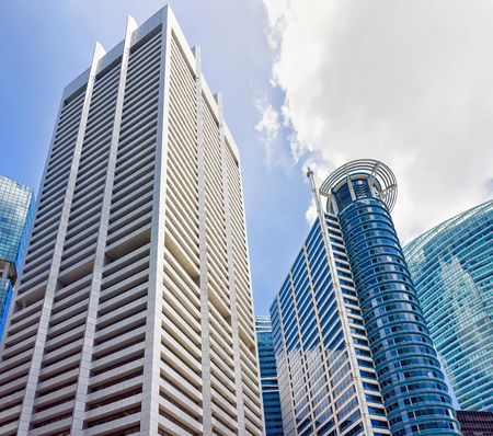 singaporean: Skyscrapers in One Raffles Place, in Financial Center in Singapore.