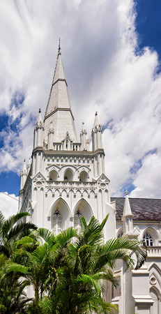 Main steeple of St Andrew Cathedral in Singapore. It is an Anglican church.