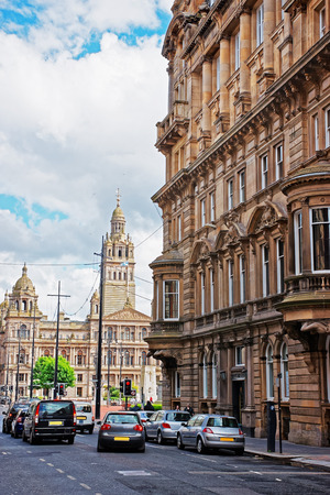 british touring car: Glasgow City Chambers on George Square in Glasgow. Glasgow is the city in the Lowlands in Scotland in the United Kingdom.