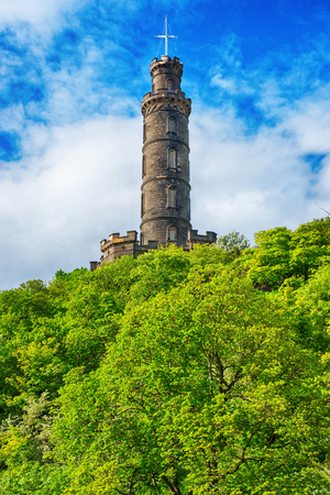 nelson: Nelson Monument on Calton Hill in Edinburgh in Scotland. It is built in honor of Admiral Horatio Nelson. It is the capital of Scotland in the United Kingdom.