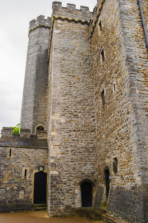 Tower in Cardiff Castle in Cardiff in Wales of the United Kingdom. It is the capital of Wales. Editorial