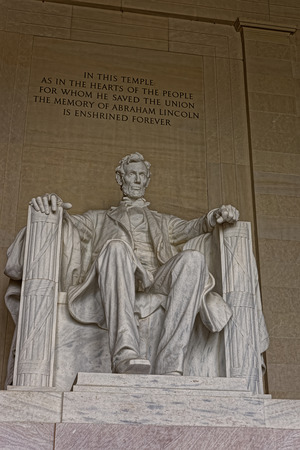 supposed: Statue of the American president Abraham Lincoln is situated in his memorial in Washington D.C., USA. The figure was supposed to be 10 feet 3 m tall, but appeared to be 19 feet 5.8 m tall.
