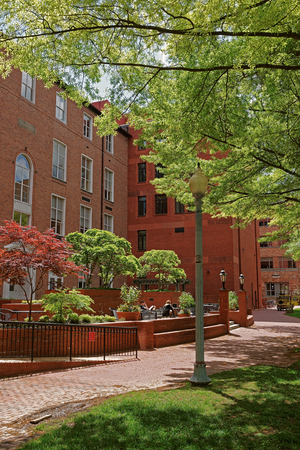 Part of The George Washington University campus located in Washington D.C., USA. The private research institution was named after the former US President George Washington and opened in 1821.
