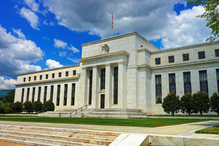 Marriner S. Eccles Federal Reserve Board Building which is situated in Washington D.C., USA. It is the headquarters of the Board of Governors of the Federal Reserve System.