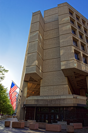 J. Edgar Hoover Building is located in Washington D.C., USA. It is the headquarters of the Federal Bureau of Investigation or FBI. The building process began in 1965 and finished in 1975.
