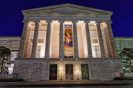 Washington DC, USA - May 2, 2015: National Gallery of Art is located in Washington D.C., USA. It is a national art museum and is a part of the National Mall. It is free for visitors.