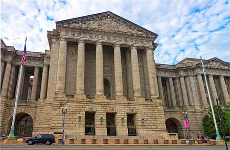 andrew: Washington DC, USA - May 2, 2015: Andrew W. Mellon Auditorium can be found in Washington. It is a Neoclassical type of auditorium which can seat up to 750 people. The architect was Arthur Brown Jr. Editorial