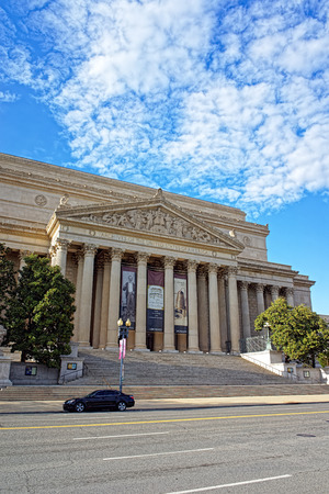 Washington DC, USA: National Archives Building is located in Washington. It is the headquaters of the National Archives and Records Administration and usually referred to as Archives I.