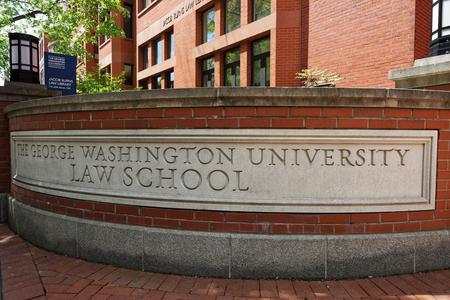 law school: Washington DC, USA - May 2, 2015: Law school of The George Washington University is located in Washington D.C., USA. It was founded in 1820s and is the oldest law school in Washington D.C., or GW Law.