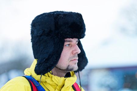 Young fellow in winter Trakai, Lithuania.