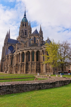 Cathedral of Our Lady of Bayeux at Calvados department of Normandy, in France.