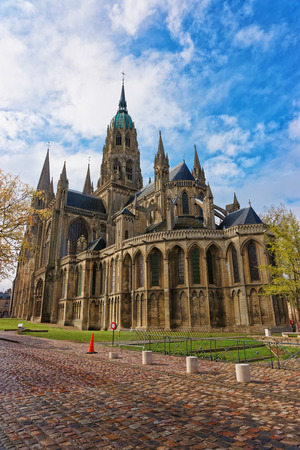 Cathedral of Our Lady of Bayeux in Calvados department of Normandy, in France. Stock Photo