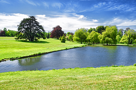 Beautiful Pond near Leeds Castle in Kent in England.
