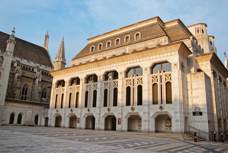 guild hall: Guildhall Art Gallery in the City of London in England.