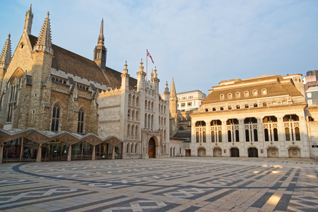 old town guildhall: Guildhall complex with Guildhall and Guildhall Art Gallery in the City of London in the UK.