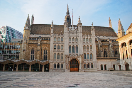 old town guildhall: Guildhall complex in the City of London in England. Stock Photo