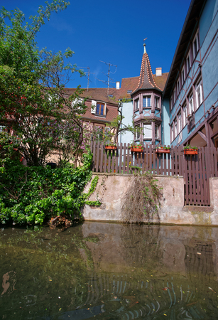 haut rhin: Little Venice and River Auch at Colmar, Haut Rhin in Alsace, France.