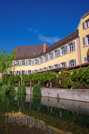 haut rhin: Little Venice quarter and River Auch in Colmar, Haut Rhin in Alsace, of France.