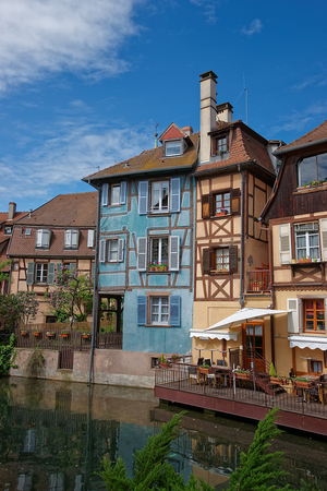 haut rhin: Little Venice quarter and River Auch of Colmar, Haut Rhin in Alsace, France.