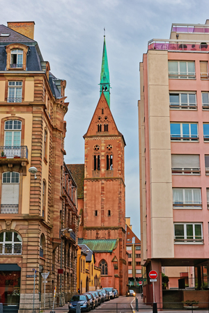 protestant: Young Saint Peter Church, or Saint-Pierre-le-Jeune Protestant Church at Quai Kellermann Quay in the city center of Strasbourg in Grand East region of Bas Rhin department, France