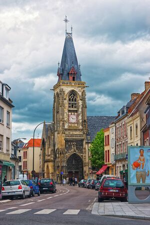 Amiens, France - May 9, 2012: Saint-Leu Church in Old Street in the city center of Amiens, Picardy, France.