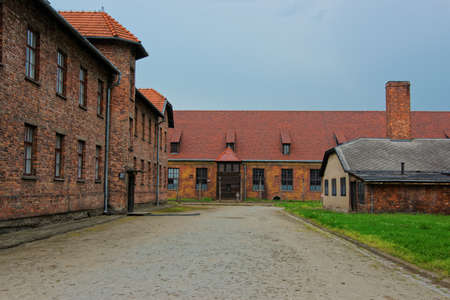 auschwitz memorial: Dormitory in the Auschwitz concentration camp, Poland.