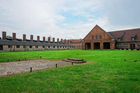 concentration: Crematorium of Auschwitz concentration camp, Poland. Editorial