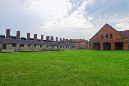 jewish community: Crematorium in Auschwitz concentration camp, Poland.